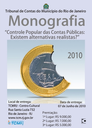 Cartaz do Concurso da Monografia 2010